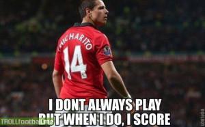 Chicharito makes it 4-1 for United ...