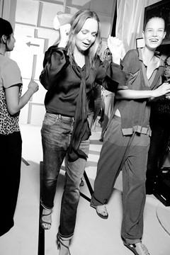 Stella McCartney, backstage at her spring/summer 2012 show © GoRunway