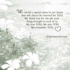 ... special place in our hearts that will always be reserved for YOU