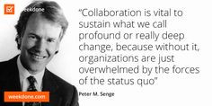 MIT Sloan School of Management senior lecturer Peter M. Senge on ...