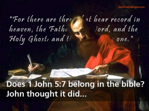 Scriptural proof for the inclusion of 1 John 5:7