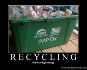 funny quotes recycling
