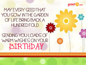 Warm Wishes On Your Birthday