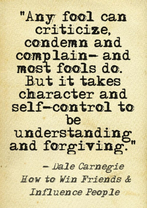 Don't criticize Beunderstanding and forgiving instead of criticizing ...