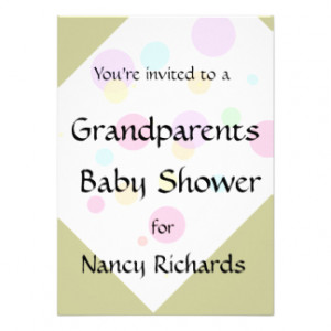 Grandparents Baby Shower Invitation