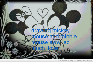 Drawing Mickey Mouse And Minnie Mouse Aww So Much Love