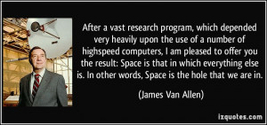 After a vast research program, which depended very heavily upon the ...