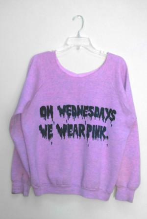 quote kawaii sweater Mean Girls Grunge pastel goth
