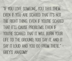 If you love someone- Greys Anatomy More