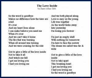 The Love Inside Song Lyrics