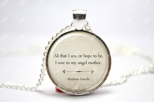 10pcs/lot Inspirational Quote Necklace, Mother's Day Gift, Abraham ...
