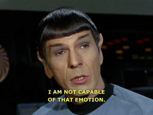 Spock Quotes On Emotions. QuotesGram