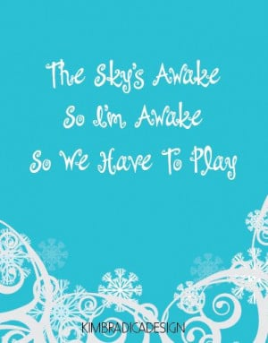 frozen the sky s awake quote 11x14 digital print