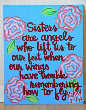 ... .etsy.com/listing/111928639/sisters-are-angels-canvas-painting-11x