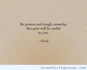 Ovid quote on being patient