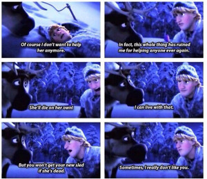 Love it when Kristoff talks to his best friend--look at the third and ...