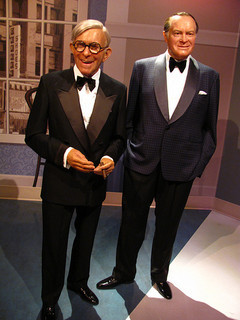The late, great George Burns (left) and Bob Hope (right.)