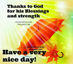Thanks to God for his Blessings. Free christian card for facebook ...