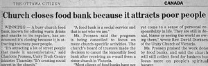 Church Closes Food Bank Because…It Attracts Poor People