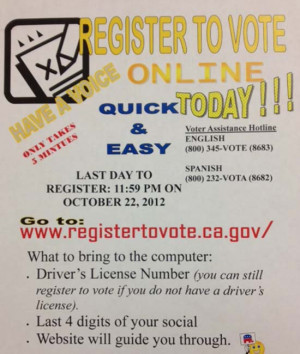 Importance Of Registering To Vote