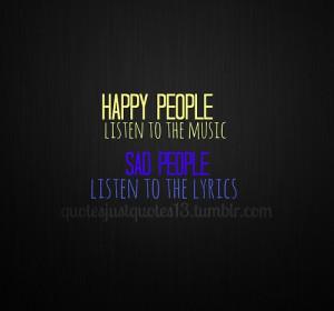 happy, life, people, quote, sad