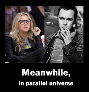 Penny and Sheldon in a parallel universe