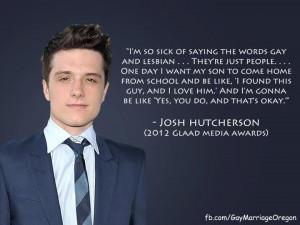 Josh Hutcherson shows his love.