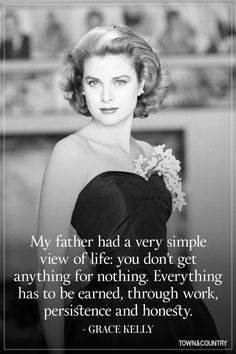 Grace Kelly Quotes - And that is why her name is GRACE. #inspirational ...