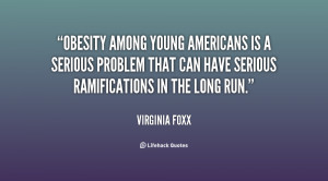Obesity among young Americans is a serious problem that can have ...