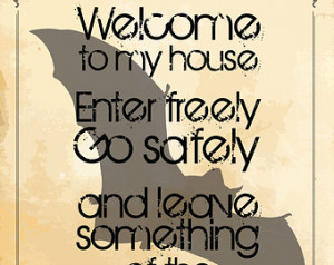 Gothic Art Print Poster - Welcome To My House - Dracula by Bram Stoker ...