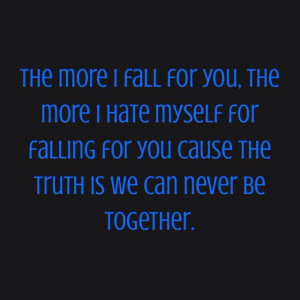 The more I fall for you