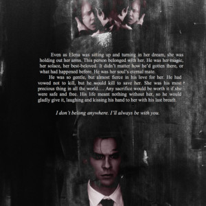BOOK! Quote From Tumblr - damon-and-elena Fan Art