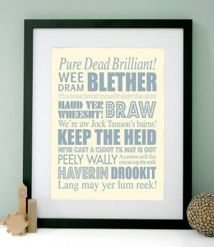 homepage > MODO CREATIVE > PERSONALISED SCOTTISH SAYINGS ART PRINT