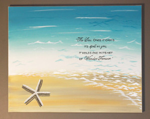 ... Quote Sand Ocean Starfish Seashell Turquoise Sea Shore Personalized