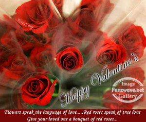 ... True Love Give You Loved One A Bouguet Of Red Roses - Romantic Quote