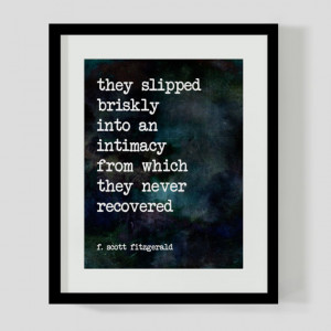 Print F. Scott Fitzgerald Love Literary Quote Wall Art, Decor - 2 ...