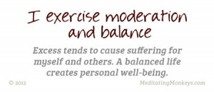 moderation in all things balance quotes