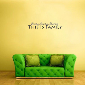 Loving Caring Sharing This Is Family vinyl wall quote(China (Mainland ...