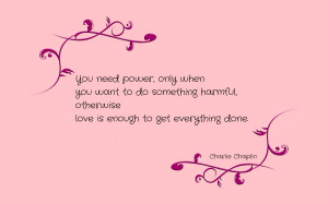 You need power, only when... quote wallpaper
