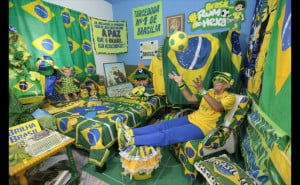 Photos: This Brazilian soccer fan is absolutely nuts about her team ...