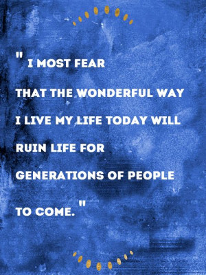 Hank Green on what he is most afraid of.