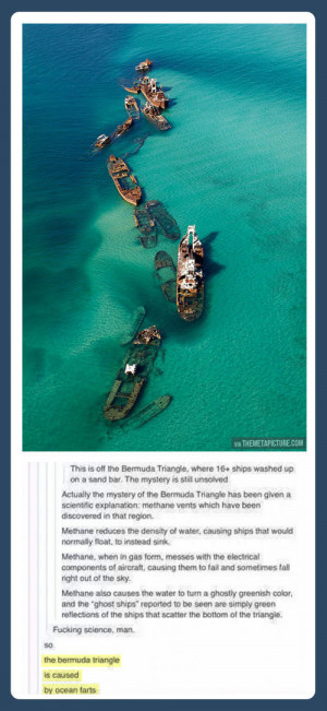 The mystery of the Bermuda Triangle is solved…