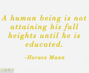 ... until he is educated.
