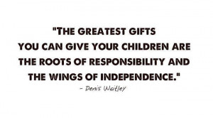 Responsibility & independence