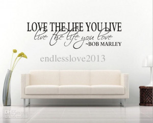 Marley Quote Wall Decal Decor Love Life Wall Sticker Vinyl wall quotes ...