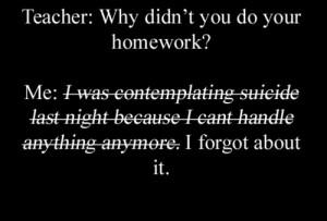 death depression suicide school self harm cutting