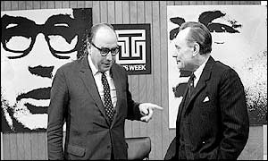 Roy Jenkins (left) and Tory Cabinet Minister Enoch Powell