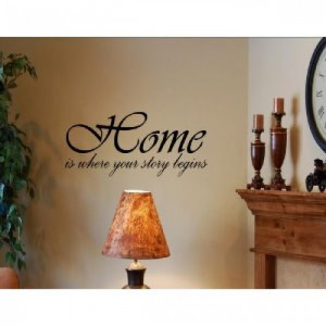 HOME IS WHERE YOUR STORY BEGINS Vinyl wall quotes and sayings art ...