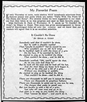 One of my favorite poems by Edgar A. Guest.