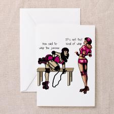 RollerBuzz roller derby style Greeting Cards (Pk o for